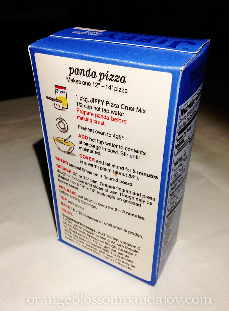 Jiffy Panda Pizza Mix Box, Mixed Media, 2007