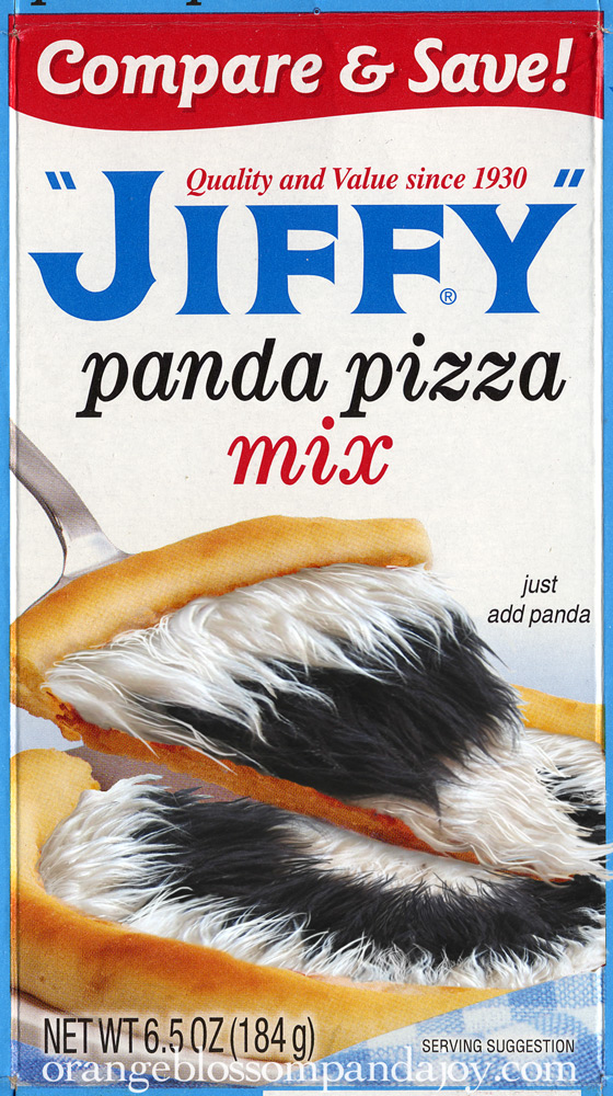 Jiffy Panda Pizza Box Front Detail, 2007